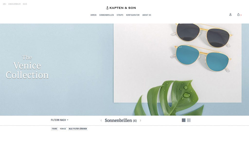 HOMEPAGE-RELUNCH VON KAPTEN & SON