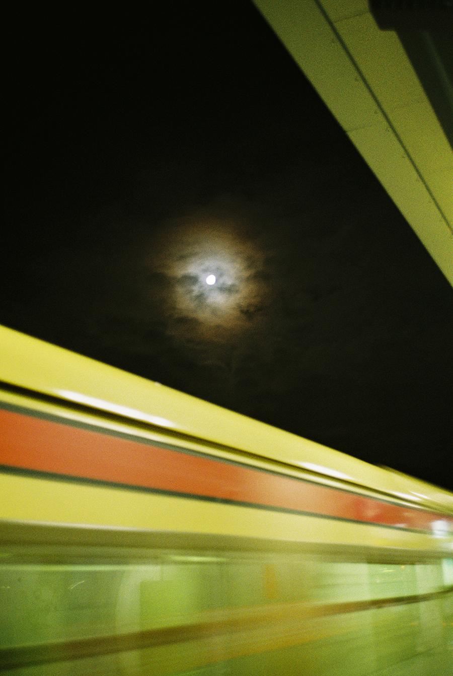Moon on film